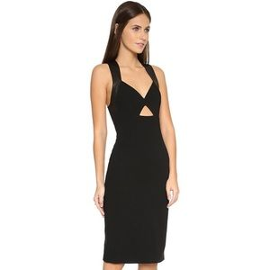 Alice and Olivia leather cut out dress